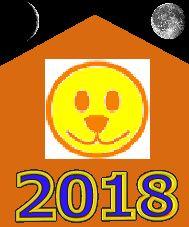 2018-й - Год жёлтой Собаки по восточноазиатскому календарю. Картинка с символом этого года
