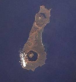 Кальдера Тао-Русыр на острове Онекотан Большой Курильской гряды. Фото - вид сверху